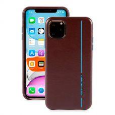 "Чехол для смартфона iPhone 11 ""6.1"" Piquadro Blue Square коричневый"