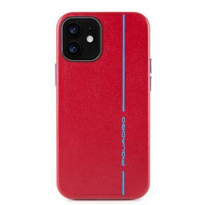 "Чехол для смартфона iPhone 12 MINI ""5.4"" Piquadro Blue Square красный"