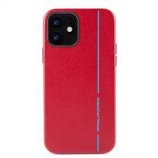 "Чехол для смартфона iPhone 12 ""6.1"" Piquadro Blue Square красный"