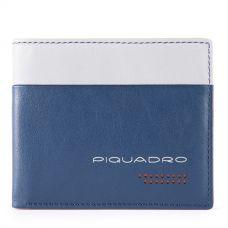 Кошелек мужской Piquadro Urban синий/серый