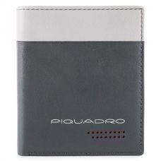Чехол для кредитных карт Piquadro Urban серый/черный