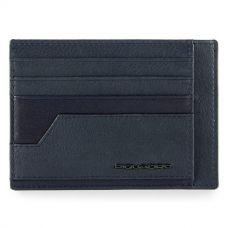 Чехол для кредитных карт Piquadro Kobe синий