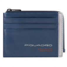 Чехол для кредитных карт Piquadro Urban синий/серый