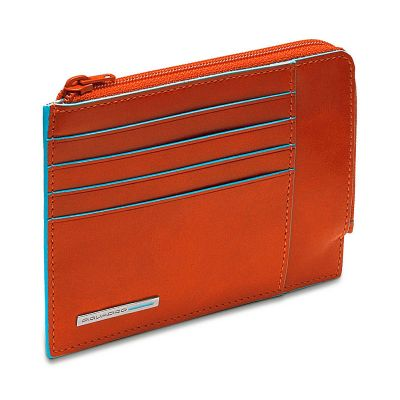 Чехол для кредитных карт Piquadro Blue Square оранжевый