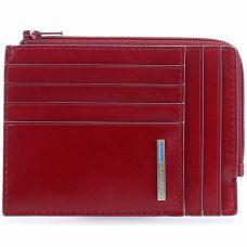 Чехол для кредитных карт Piquadro Blue Square красный