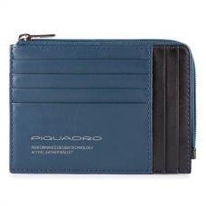 Чехол для кредитных карт Piquadro Downtown синяя