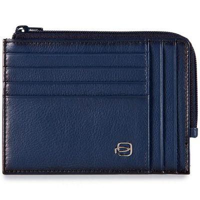 Чехол для кредитных карт Piquadro Edge синий