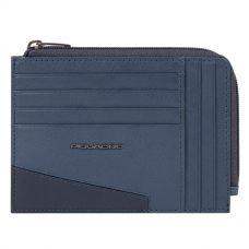 Чехол для кредитных карт Piquadro Hakone синий