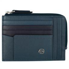 Чехол для кредитных карт Piquadro Cary W82 синий
