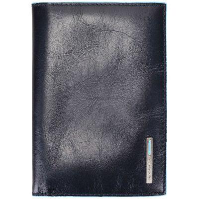Обложка для паспорта Piquadro Blue Square синяя