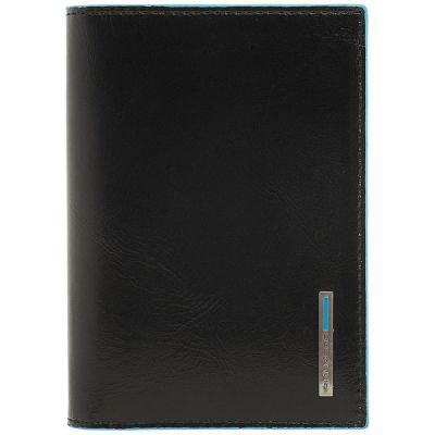 Обложка для документов Piquadro Blue Square черный
