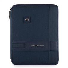 Папка для документов и планшета Piquadro Tokyo синяя