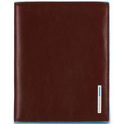 Обложка для паспорта Piquadro Blue Square коричневая
