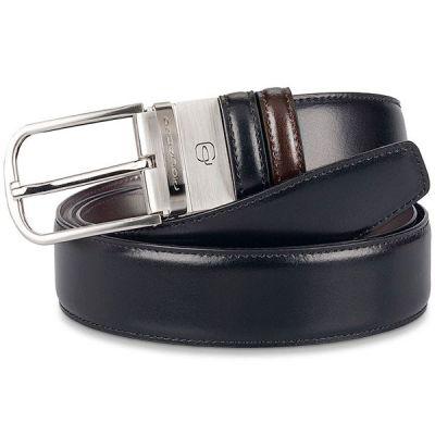 Мужской ремень Piquadro Cinture Coll.11 черный/коричневый