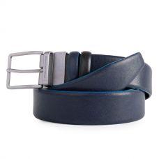 Мужской ремень мужской Piquadro Blue Square чёрный/синий