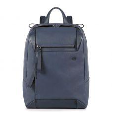 Женский рюкзачок Piquadro PAN для ноутбука серо-голубой с отделением для iPad Air / Pro