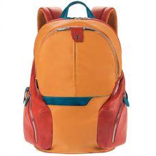 Рюкзак Piquadro Coleos желто-красный
