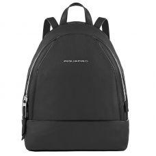 Женский рюкзак Piquadro Muse кожаный черный 30 см