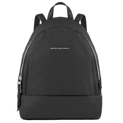 Женский рюкзак Piquadro Muse кожаный черный 30 см CA4327MU/N