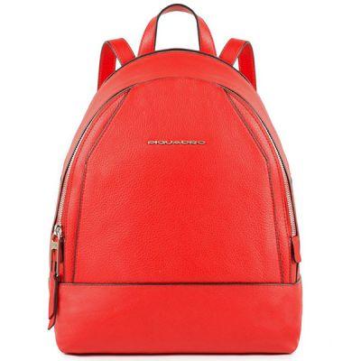 Женский рюкзак Piquadro Muse кожаный красный 30 см