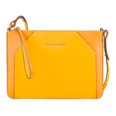 Женская сумка-клатч Piquadro Muse желтая AC4329MUS/G