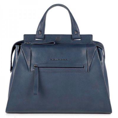 Женская сумка Piquadro PAN серо-голубая с отделением для iPad Air / Pro