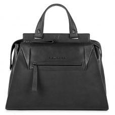 Женская сумка Piquadro PAN черная с отделением для iPad Air / Pro