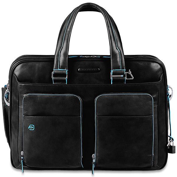 d12f2926a934 Сумка Piquadro Blue Square черная CA2765B2/N: купить по цене ...