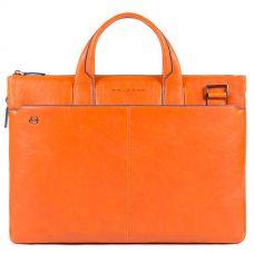 Сумка Piquadro Blue Square Special для документов и ноутбука оранжевая
