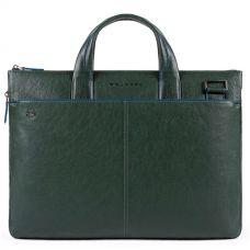 Сумка Piquadro Blue Square Special для документов и ноутбука зелёная