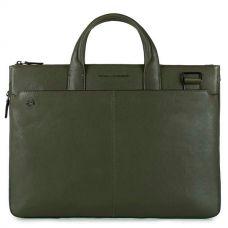 Сумка для ноутбука Piquadro Black Square зеленая