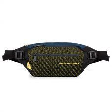 Сумка на пояс Piquadro PQY синяя-желтая