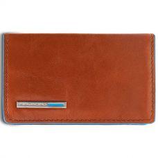 Чехол для визитных карт Piquadro Blue Square оранжевый